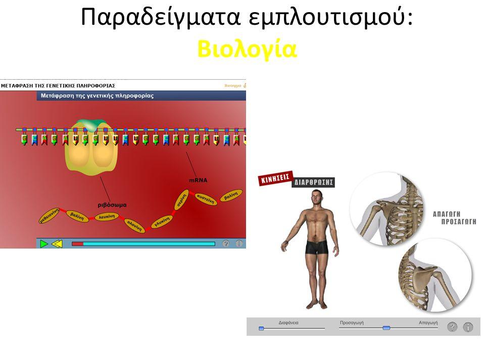 Παραδείγματα εμπλουτισμού: Βιολογία Προσομοίωση Διαδραστική Προσομοίωση