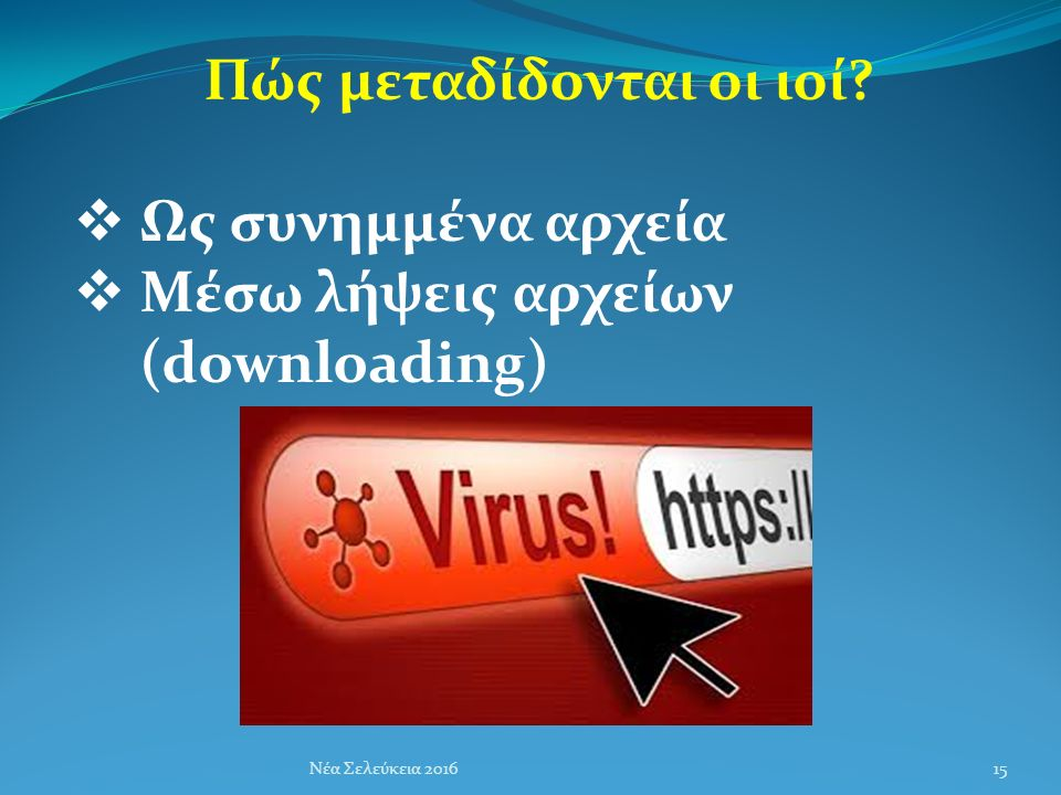 Πώς μεταδίδονται οι ιοί.