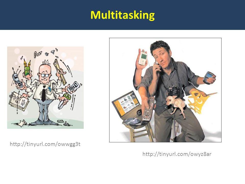 Multitasking http://tinyurl.com/owwgg3t http://tinyurl.com/owyz8ar