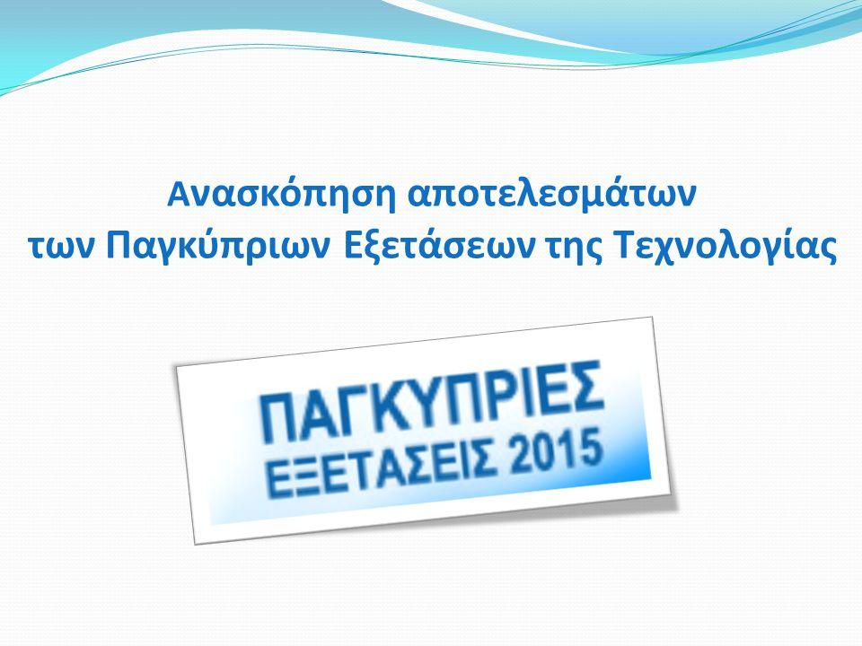 Α νασκόπηση αποτελεσμάτων των Παγκύπριων Εξετάσεων της Τεχνολογίας