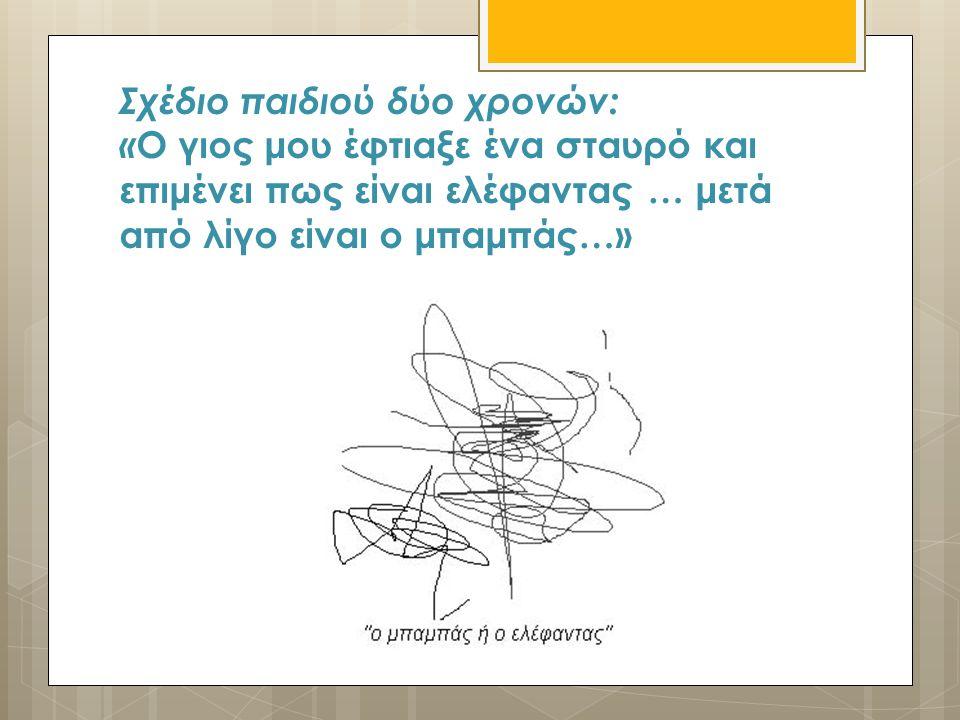 Σχέδιο παιδιού δύο χρονών: « Ο γιος μου έφτιαξε ένα σταυρό και επιμένει πως είναι ελέφαντας … μετά από λίγο είναι ο μπαμπάς…»