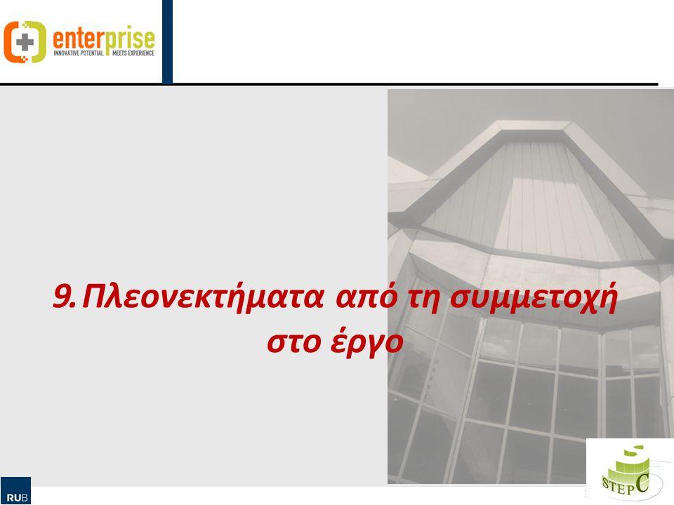 Human Ressource Management & Qualification 30 9. Πλεονεκτήματα από τη συμμετοχή στο έργο
