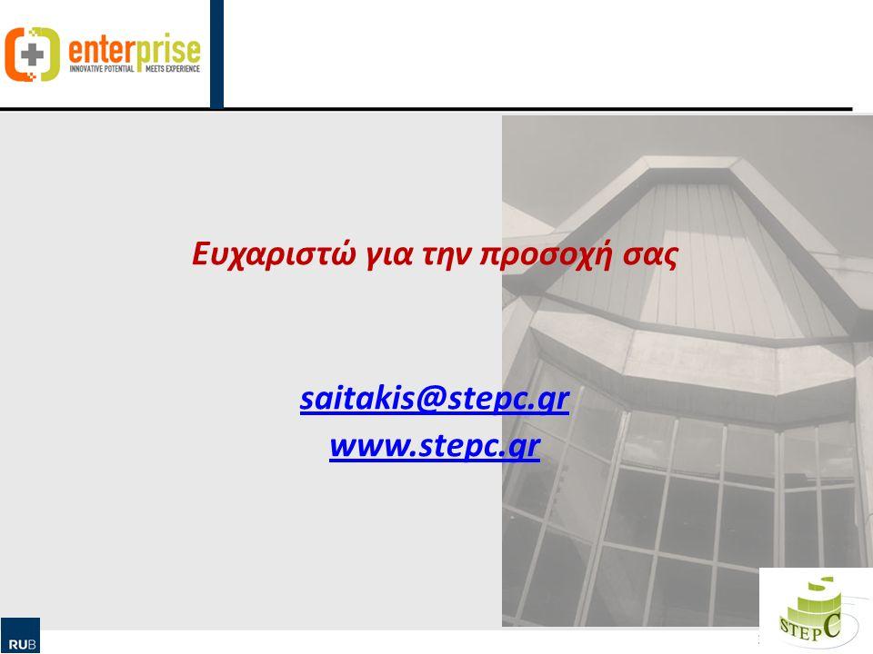 Human Ressource Management & Qualification 33 Ευχαριστώ για την προσοχή σας saitakis@stepc.gr www.stepc.gr