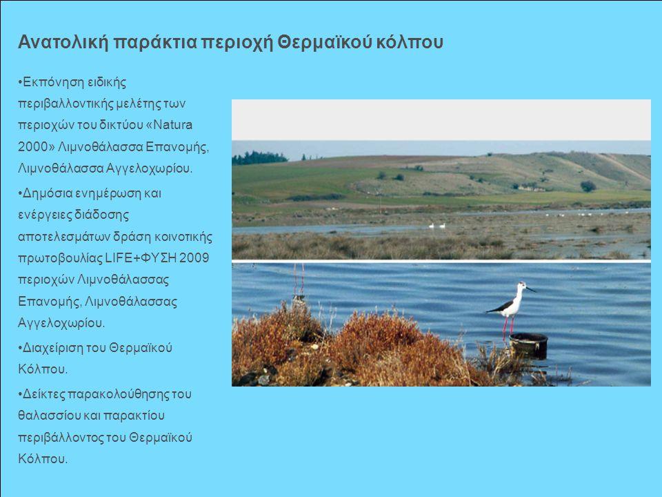 Εκπόνηση ειδικής περιβαλλοντικής μελέτης των περιοχών του δικτύου «Νatura 2000» Λιμνοθάλασσα Επανομής, Λιμνοθάλασσα Αγγελοχωρίου. Δημόσια ενημέρωση κα