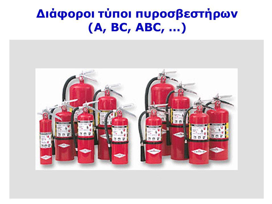 51 Διάφοροι τύποι πυροσβεστήρων (Α, ΒC, ΑΒC, …)