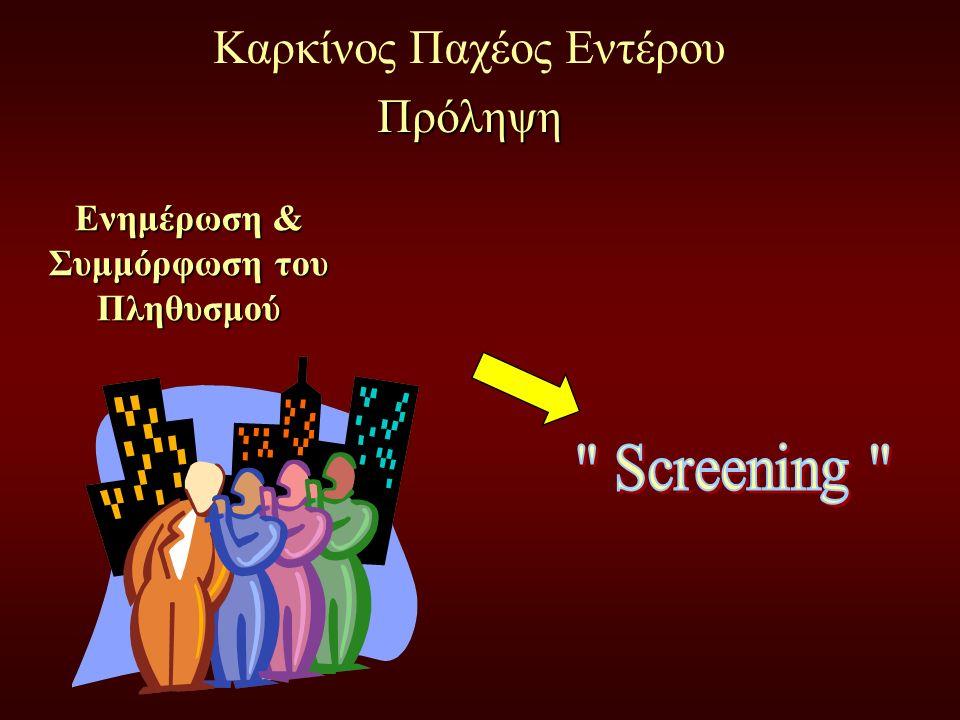 Καρκίνος Παχέος ΕντέρουΠρόληψη Ενημέρωση & Συμμόρφωση του Πληθυσμού