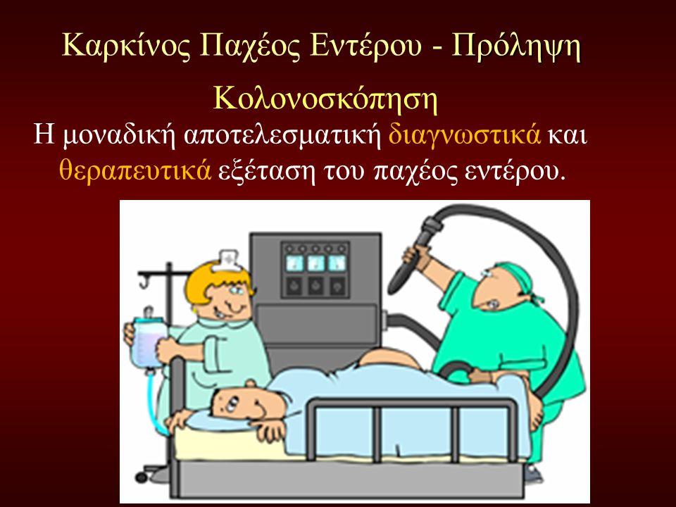 Προληπτικός έλεγχος Η μοναδική αποτελεσματική διαγνωστικά και θεραπευτικά εξέταση του παχέος εντέρου.