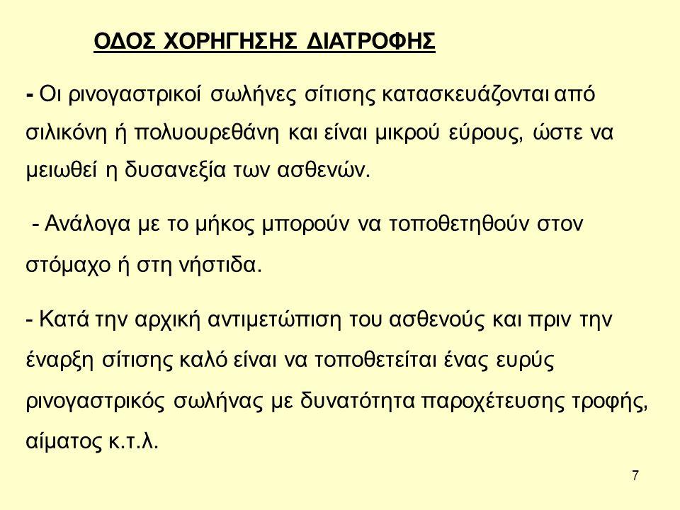 8. ΡΙΝΟΓΑΣΤΡΙΚΟΣ ΣΩΛΗΝΑΣ ΣΙΤΙΣΗΣ
