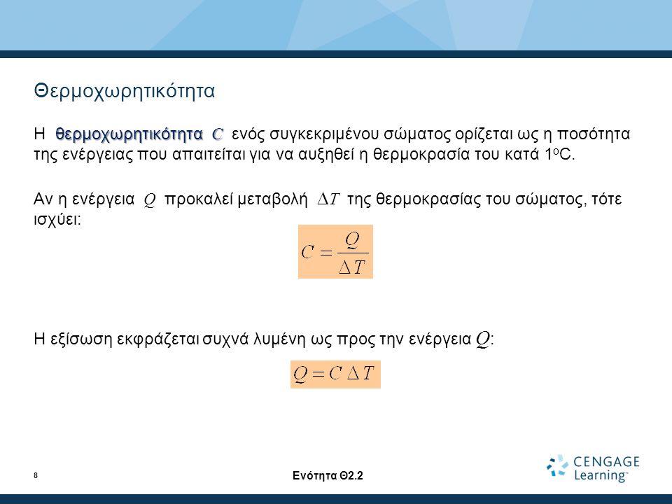 Αγωγή θερμότητας - Η εξίσωση (συνέχεια) A είναι το εμβαδόν της διατομής.