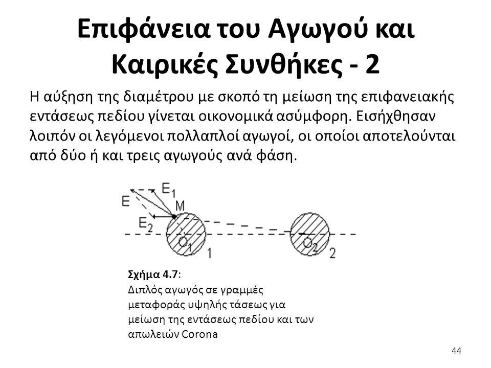 Απώλειες Corona Τριφασικών Γραμμών Μεταφοράς - 1 Στις τριφασικές γραμμές μεταφοράς είναι αδύνατο να επιτευχθεί γεωμετρική συμμετρία (και ηλεκτρική) των τριών αγωγών μεταξύ τους και ταυτόχρονα και με τη γη.
