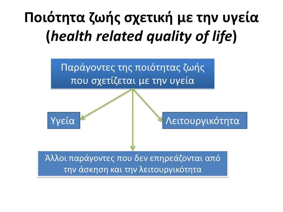 Ποιότητα ζωής σχετική με την υγεία (health related quality of life)