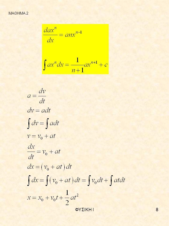 ΦΥΣΙΚΗ Ι9 y z x p r ΜΑΘΗΜΑ 2