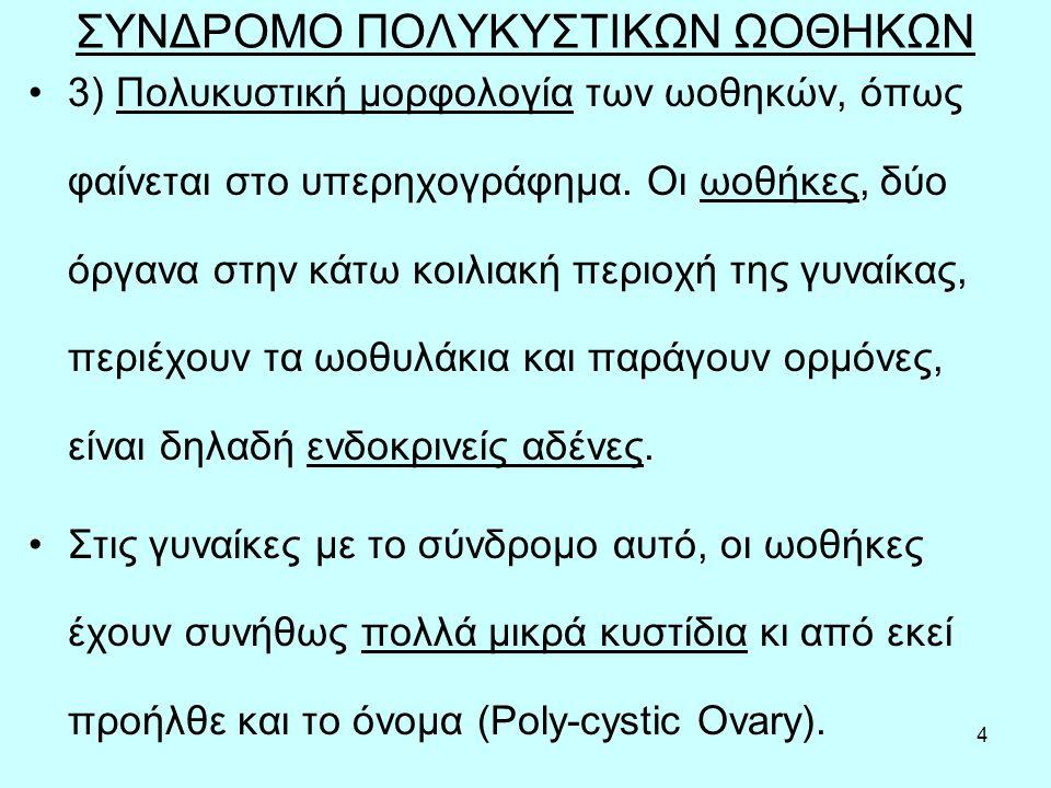 55 Προβλήματα γονιμότητας σε PCOs Το συχνότερο πρόβλημα γονιμότητας που αντιμετωπίζουν οι γυναίκες με σύνδρομο πολυκυστικών ωοθηκών είναι η διαταραχή της ωοθυλακιορρηξίας.
