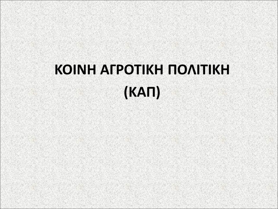 ΚΟΙΝΗ ΑΓΡΟΤΙΚΗ ΠΟΛΙΤΙΚΗ (ΚΑΠ)