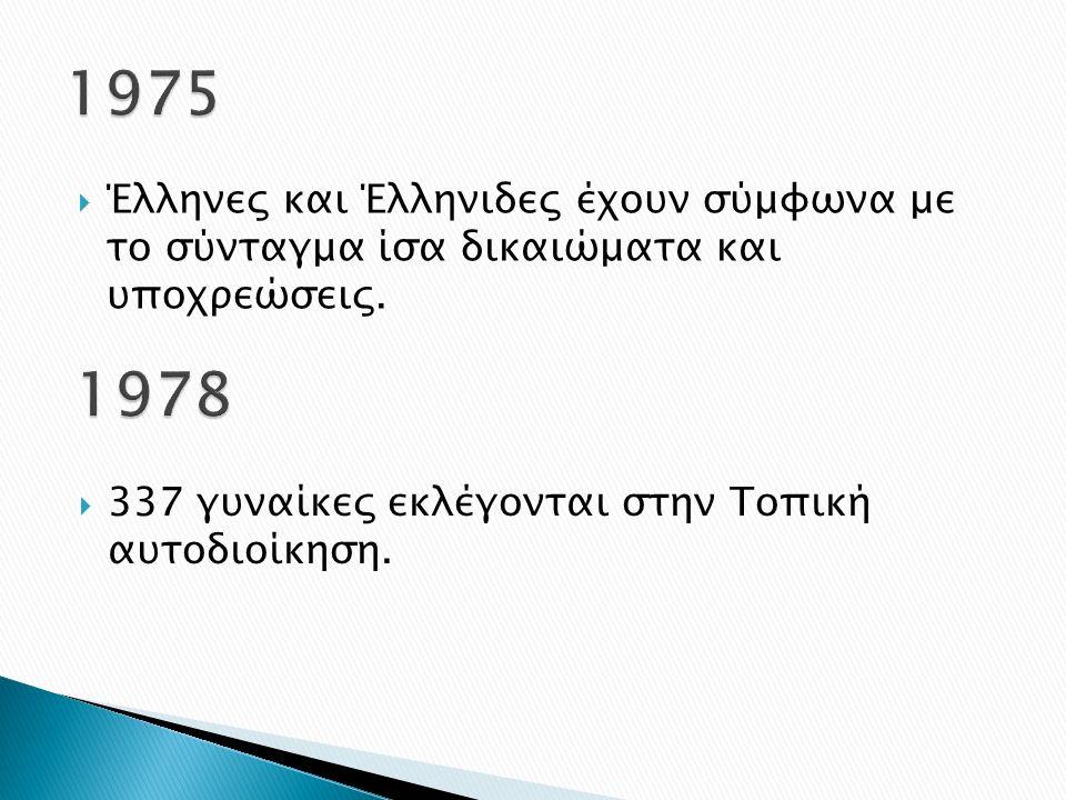  Έλληνες και Έλληνιδες έχουν σύμφωνα με το σύνταγμα ίσα δικαιώματα και υποχρεώσεις.