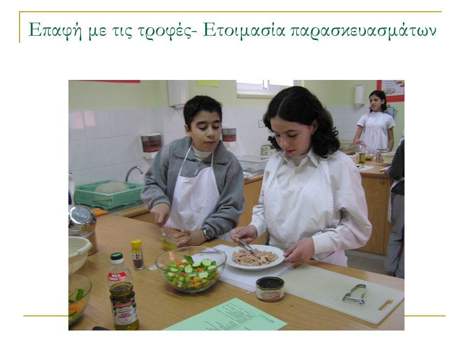 Επαφή με τις τροφές- Ετοιμασία παρασκευασμάτων