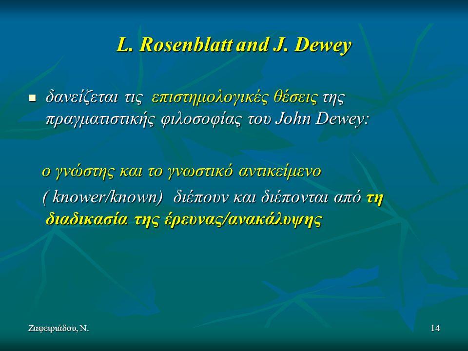 Ζαφειριάδου, Ν.14 L. Rosenblatt and J.