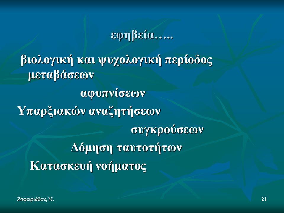 Ζαφειριάδου, Ν.21 εφηβεία…..