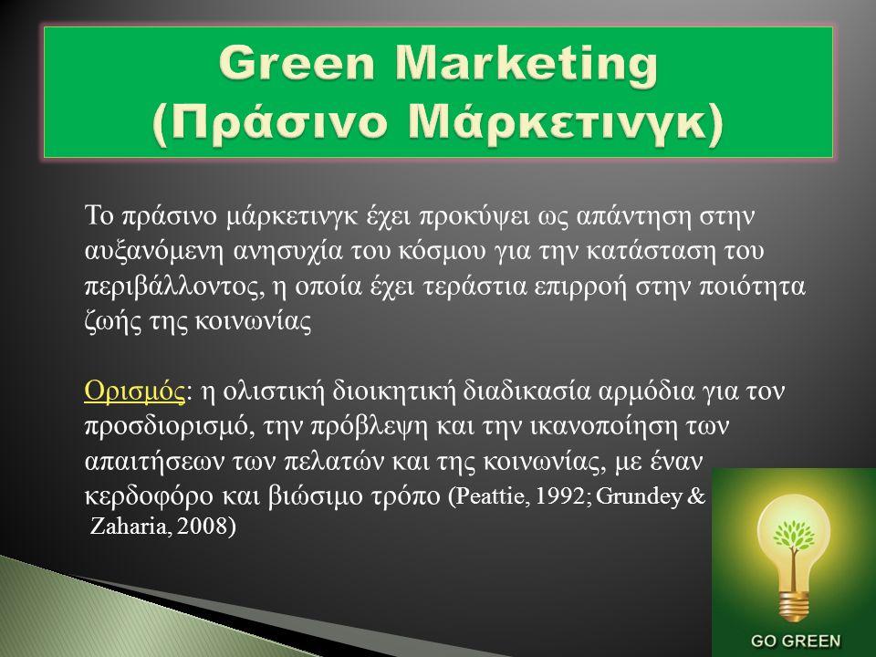  True Blue Green (9%) : Ισχυρές περιβαλλοντικές αξίες, πολιτικά ενεργοί.