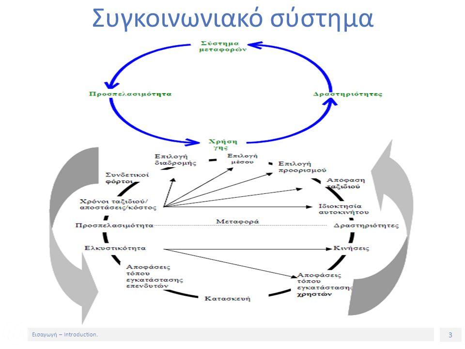 3 Εισαγωγή – Introduction. Συγκοινωνιακό σύστημα
