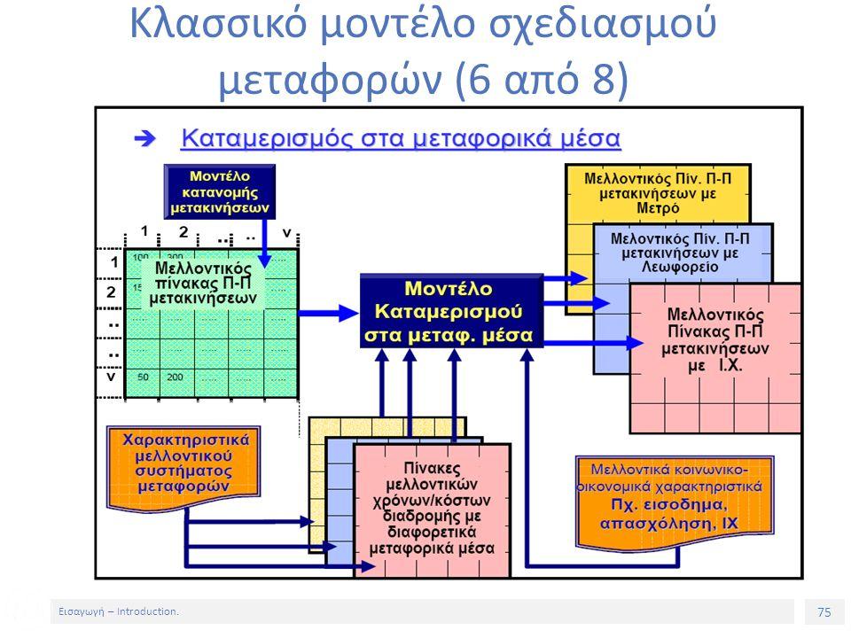 75 Εισαγωγή – Introduction. Κλασσικό μοντέλο σχεδιασμού μεταφορών (6 από 8)