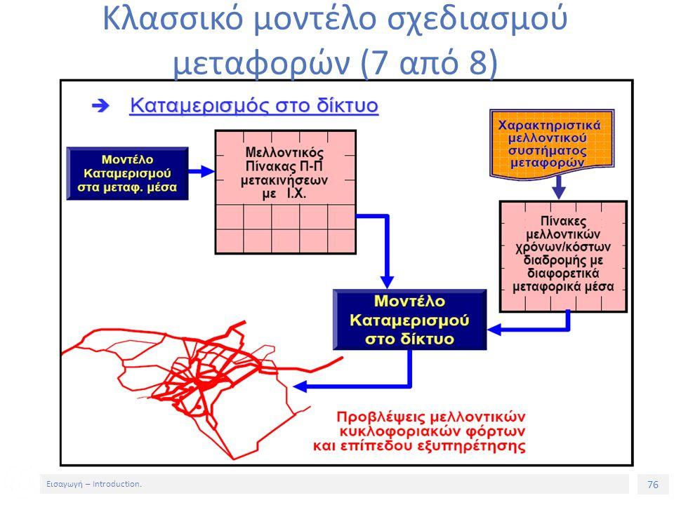 76 Εισαγωγή – Introduction. Κλασσικό μοντέλο σχεδιασμού μεταφορών (7 από 8)