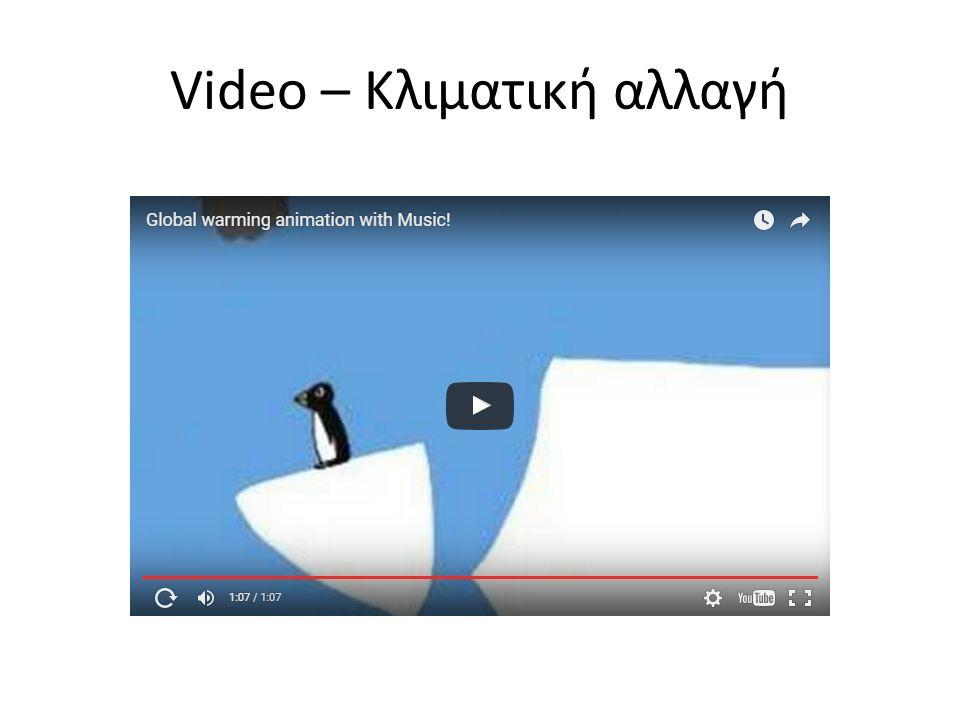 Video – Κλιματική αλλαγή