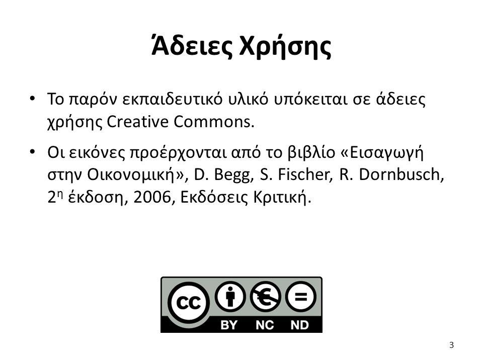 Άδειες Χρήσης Το παρόν εκπαιδευτικό υλικό υπόκειται σε άδειες χρήσης Creative Commons. Οι εικόνες προέρχονται από το βιβλίο «Εισαγωγή στην Οικονομική»