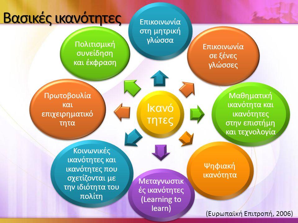 Βασικές ικανότητες (Ευρωπαϊκή Επιτροπή, 2006)