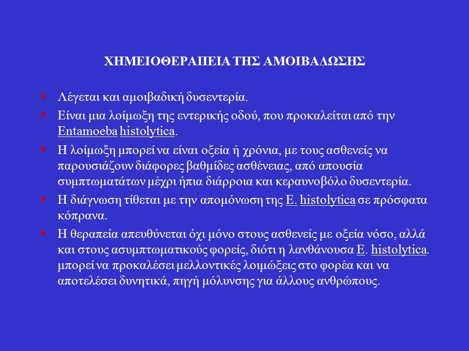 Πριμακίνη (σχιστοζωιδιοκτόνο)  Τρόπος δράσης: Δεν είναι πλήρως κατανοητός.