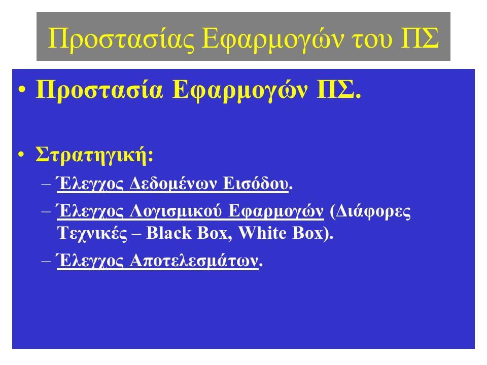 Προστασίας Εφαρμογών του ΠΣ Προστασία Εφαρμογών ΠΣ.
