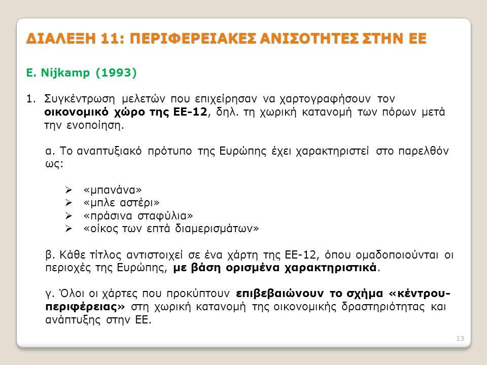 13 ΔΙΑΛΕΞΗ 11: ΠΕΡΙΦΕΡΕΙΑΚΕΣ ΑΝΙΣΟΤΗΤΕΣ ΣΤΗΝ ΕΕ E.