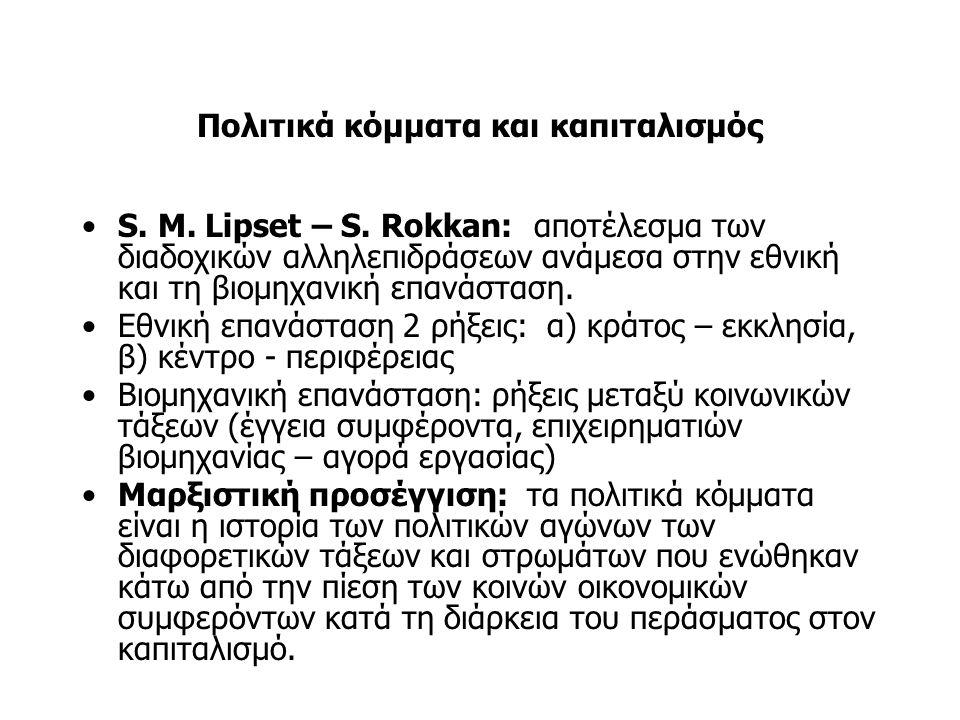 Πολιτικά κόμματα και καπιταλισμός S. M. Lipset – S.