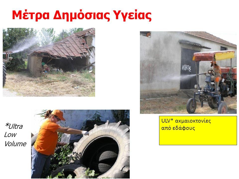 Μέτρα Δημόσιας Υγείας * Ultra Low Volume ULV* ακμαιοκτονίες από εδάφους