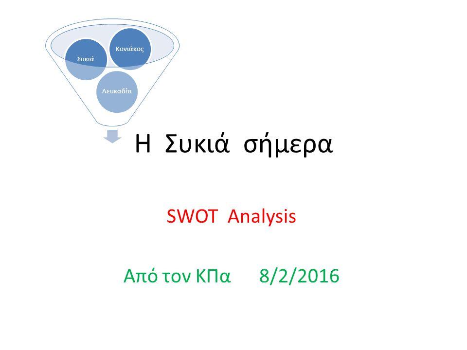 Η Συκιά σήμερα SWOT Analysis Από τον ΚΠα 8/2/2016 ΛευκαδίτιΣυκιάΚονιάκος