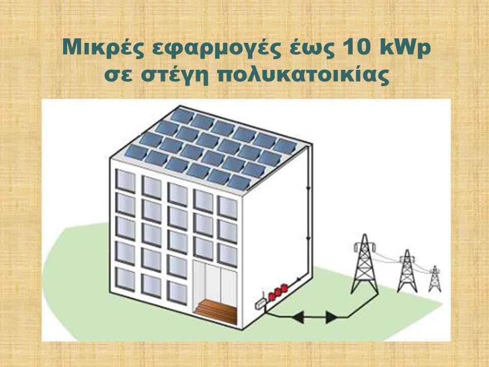 Μικρές εφαρμογές έως 10 kWp σε στέγη πολυκατοικίας
