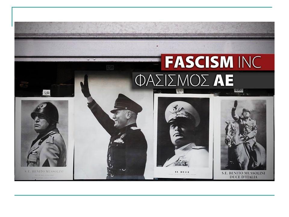 ΓΕΝΝΗΣΗ ΤΟΥ ΦΑΣΙΣΜΟΥ Ο φασισμός γεννήθηκε µετά το τέλος του Πρώτου Παγκοσμίου Πολέμου στην Ιταλία από τον Μπενίτο Μουσολίνι το 1919 χωρίς ακόμα ν' αποτελεί δόγμα ή να προσδιορίζει κάποιο συγκεκριμένο πρόγραμμα.