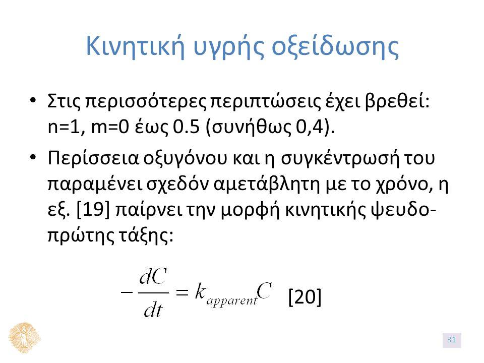 Στις περισσότερες περιπτώσεις έχει βρεθεί: n=1, m=0 έως 0.5 (συνήθως 0,4).