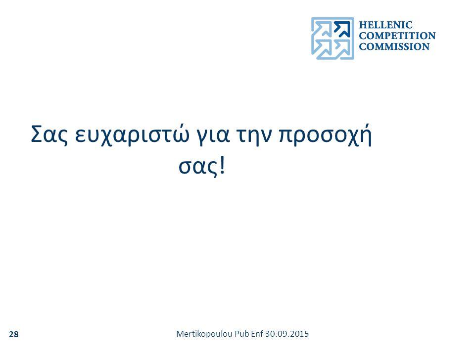Mertikopoulou Pub Enf 30.09.2015 28 Σας ευχαριστώ για την προσοχή σας!