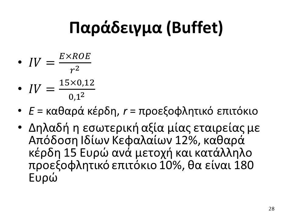 Παράδειγμα (Buffet) 28