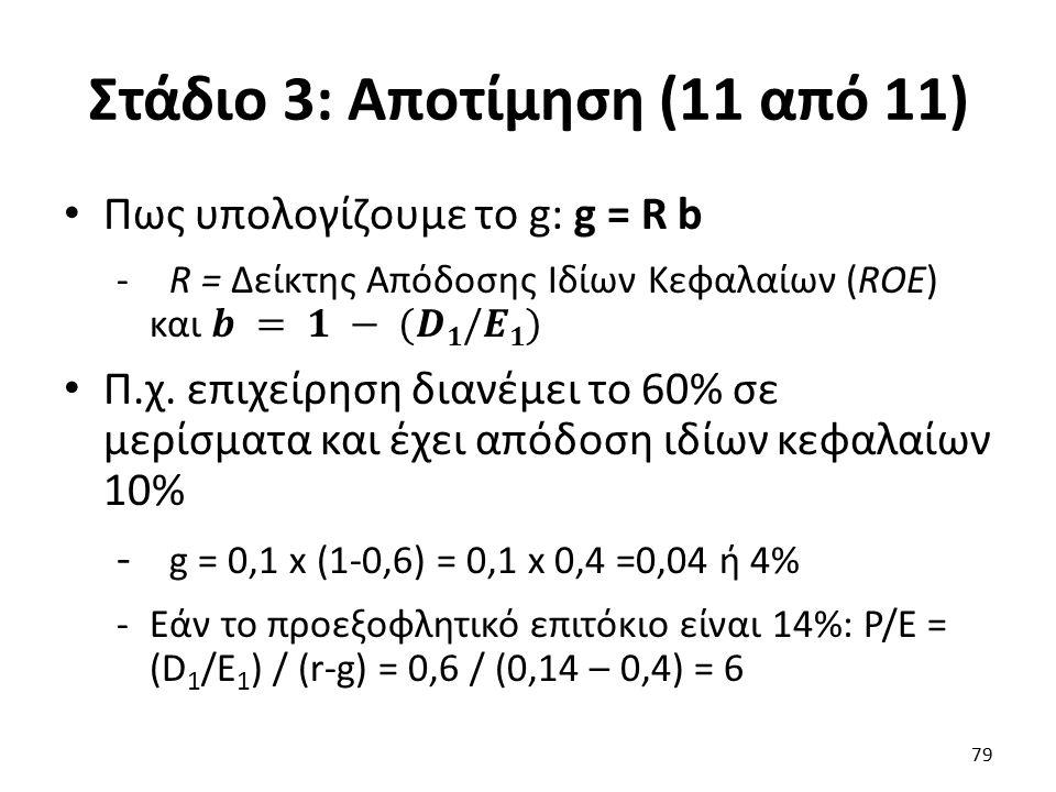 Στάδιο 3: Αποτίμηση (11 από 11) 79