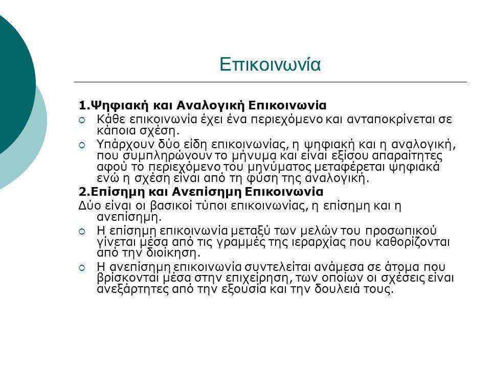 ΕΠΙΚΟΙΝΩΝΙΑΚΑ ΔΙΚΤΥΑ 1.