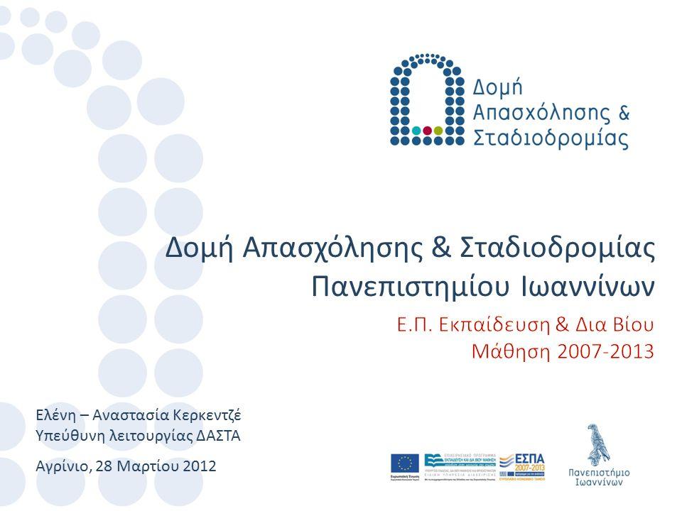 Αγρίνιο, 28 Μαρτίου 2012 Ελένη – Αναστασία Κερκεντζέ Υπεύθυνη λειτουργίας ΔΑΣΤΑ