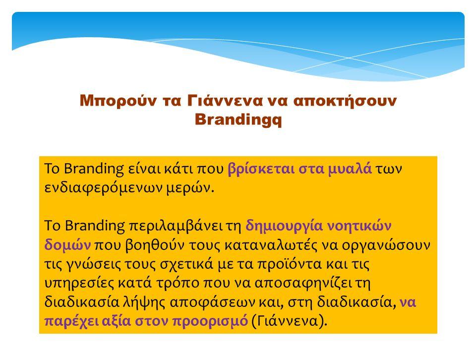 Μπορούν τα Γιάννενα να αποκτήσουν Brandingq To Branding είναι κάτι που βρίσκεται στα μυαλά των ενδιαφερόμενων μερών.