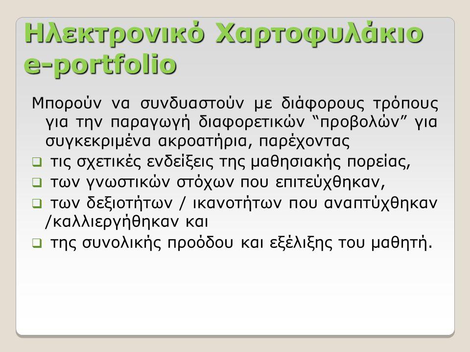 Χαρακτηριστικά του Mahara Το υλικό μου -> Αρχεία: Η περιοχή των αρχείων, είναι ένα αποθετήριο για φακέλους και αρχεία που χρησιμοποιούνται στο χαρτοφυλάκιο.
