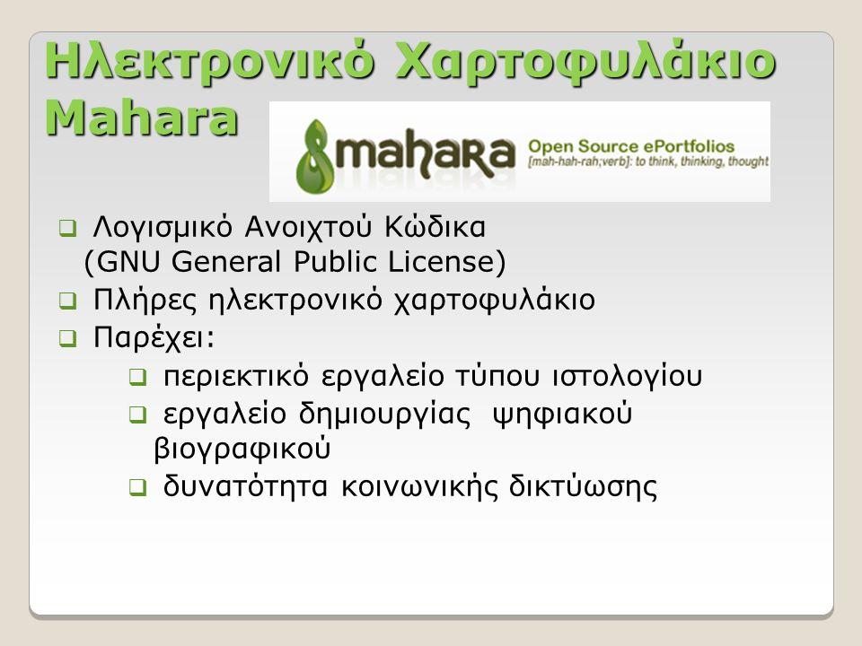 Ηλεκτρονικό Χαρτοφυλάκιο Mahara