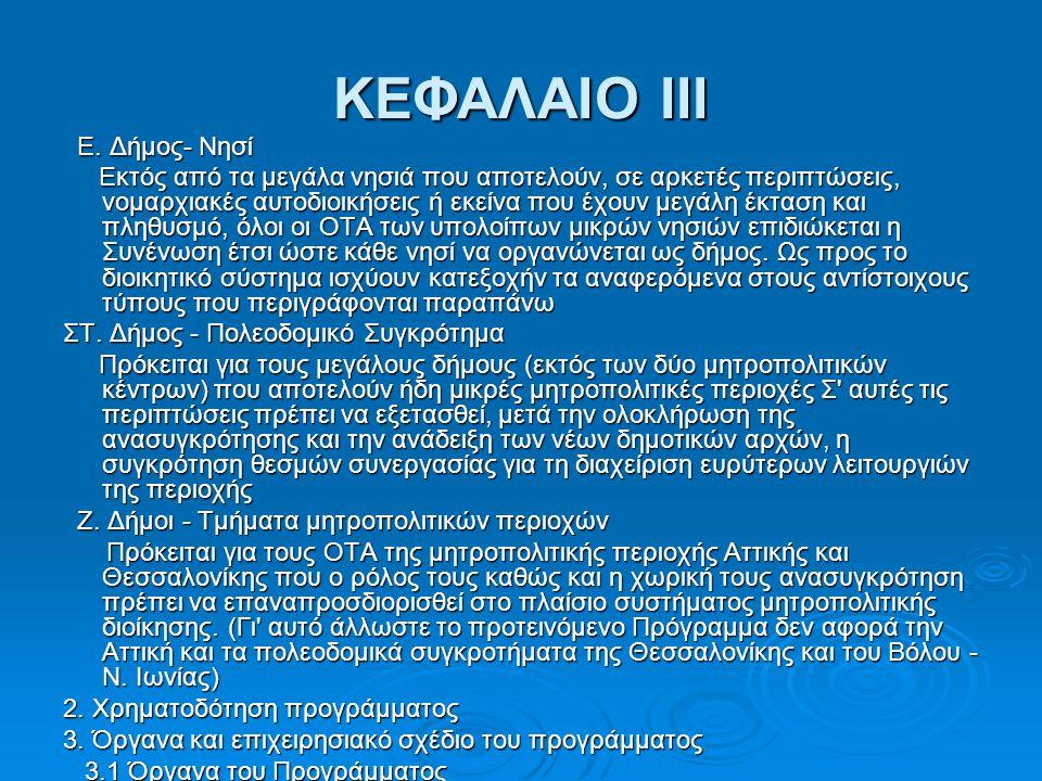 ΚΕΦΑΛΑΙΟ III Ε. Δήμος- Νησί Ε.