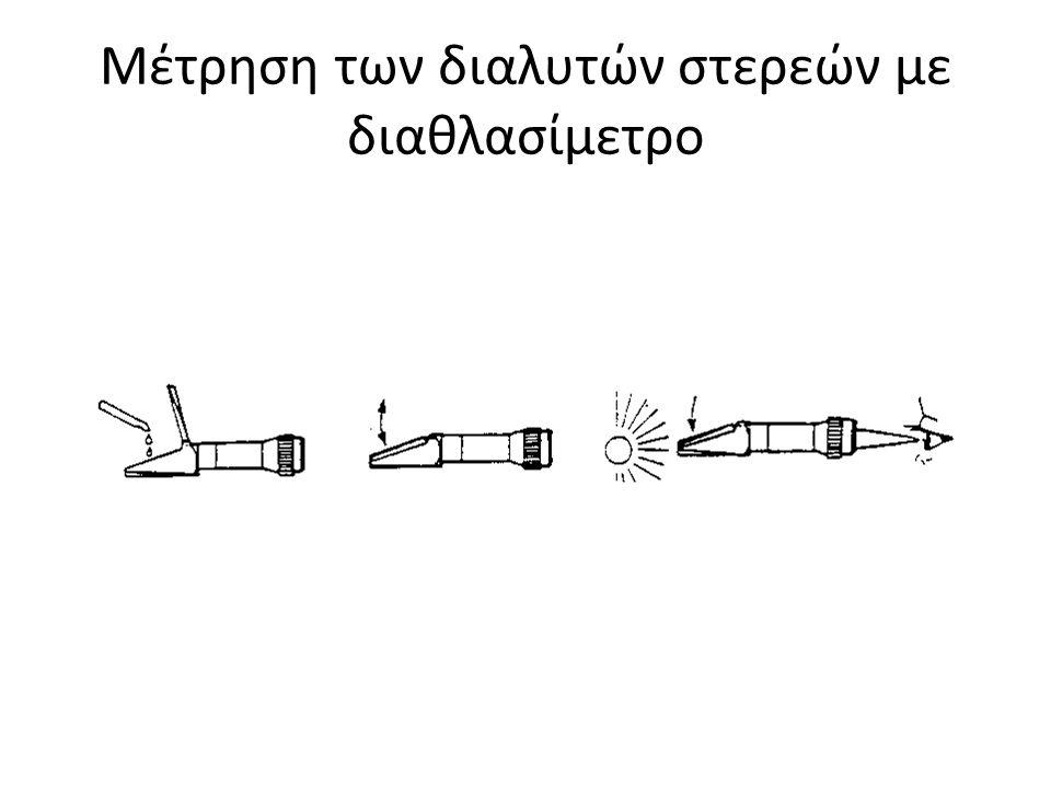 Μέτρηση των διαλυτών στερεών με διαθλασίμετρο