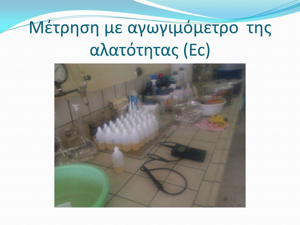 Μέτρηση με αγωγιμόμετρο της αλατότητας (Ec)