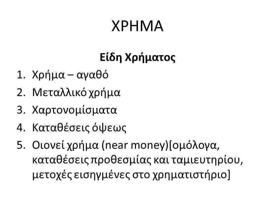 ΖΗΤΗΣΗ ΧΡΗΜΑΤΟΣ Σύμφωνα με τη Γενική Θεωρία του Keynes, τα άτομα έχουν προτίμηση ρευστότητας.